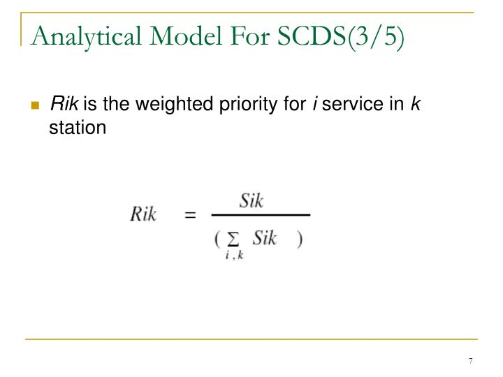 Analytical Model For SCDS(3/5)