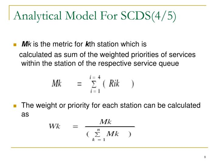 Analytical Model For SCDS(4/5)