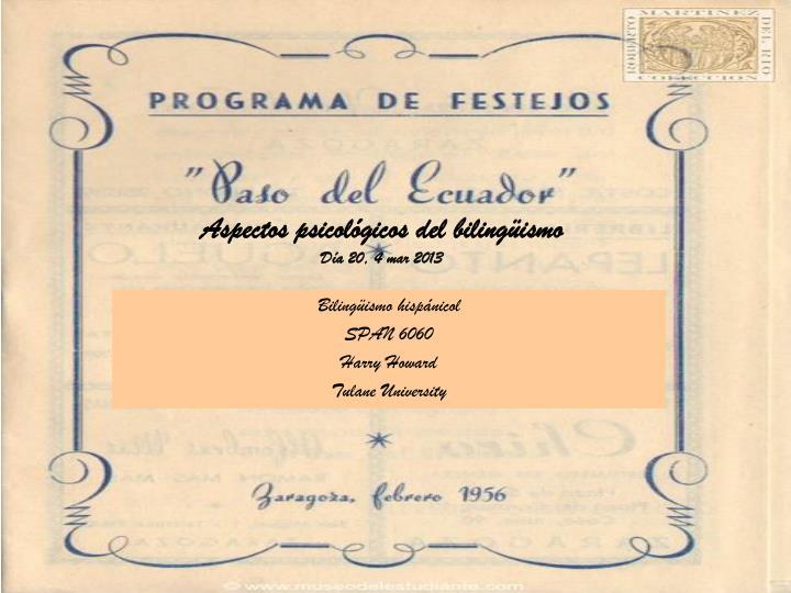 Aspectos psicol gicos del biling ismo d a 20 4 mar 2013
