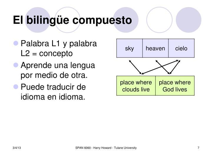 Palabra L1 y palabra L2 = concepto