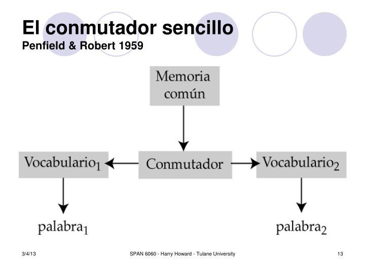 El conmutador sencillo