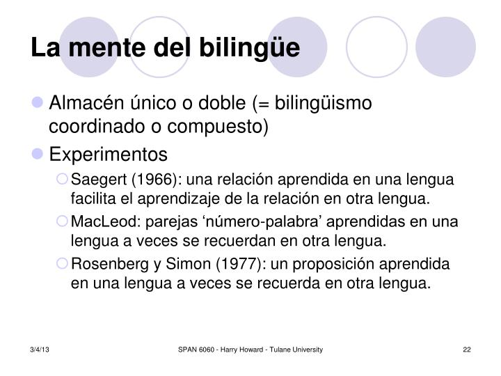 La mente del biling