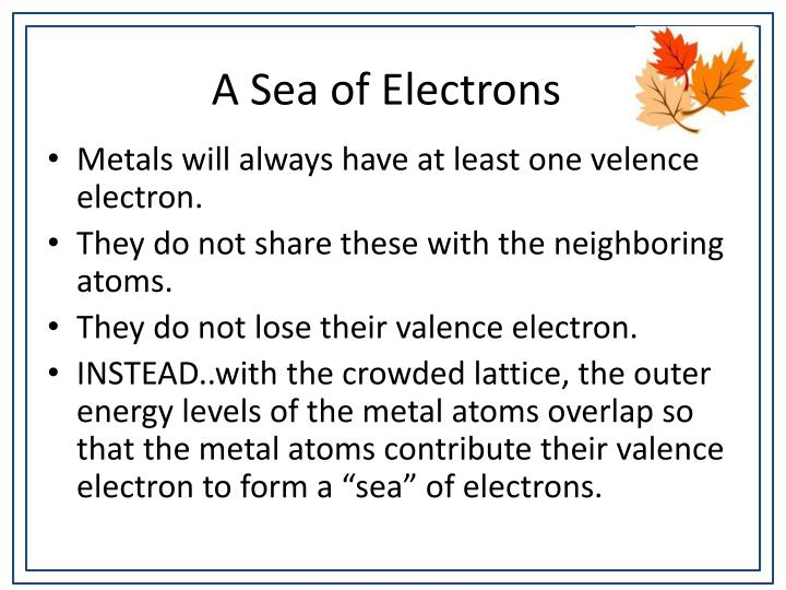 A Sea of Electrons