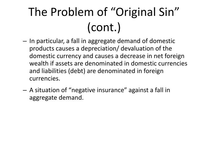 "The Problem of ""Original Sin"" (cont.)"