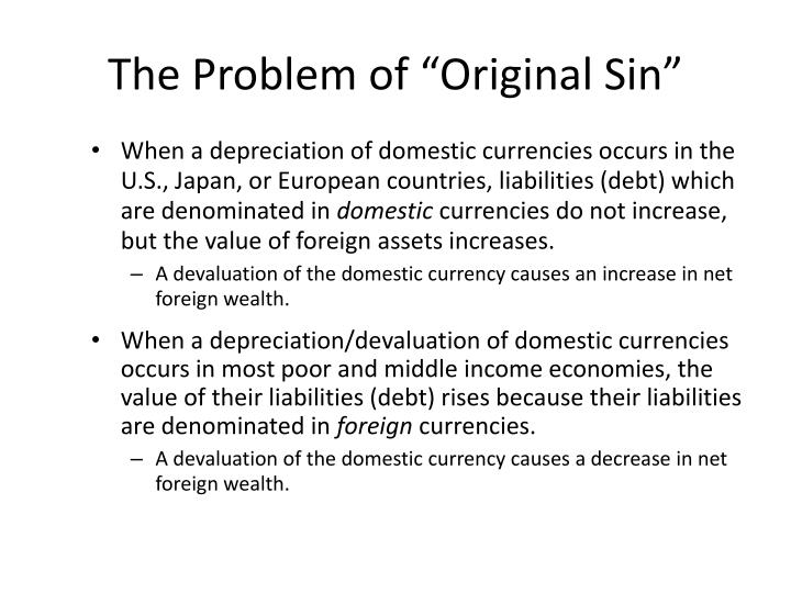 "The Problem of ""Original Sin"""