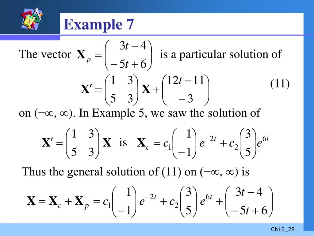 PPT - Systems of Linear Differential Equations PowerPoint