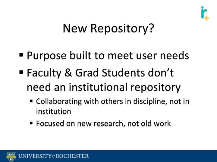New Repository?