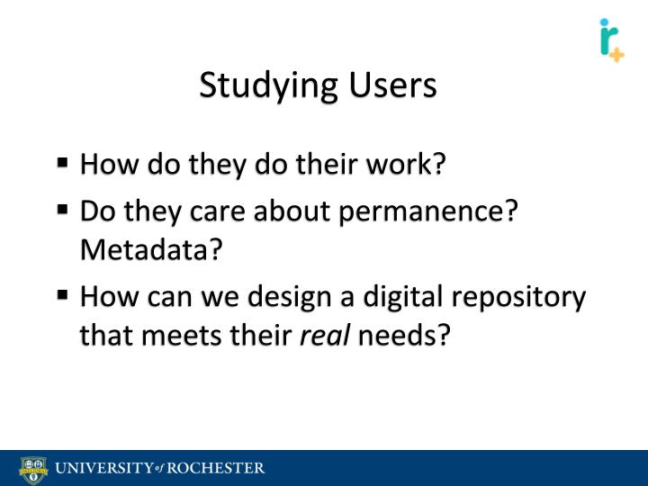 Studying Users