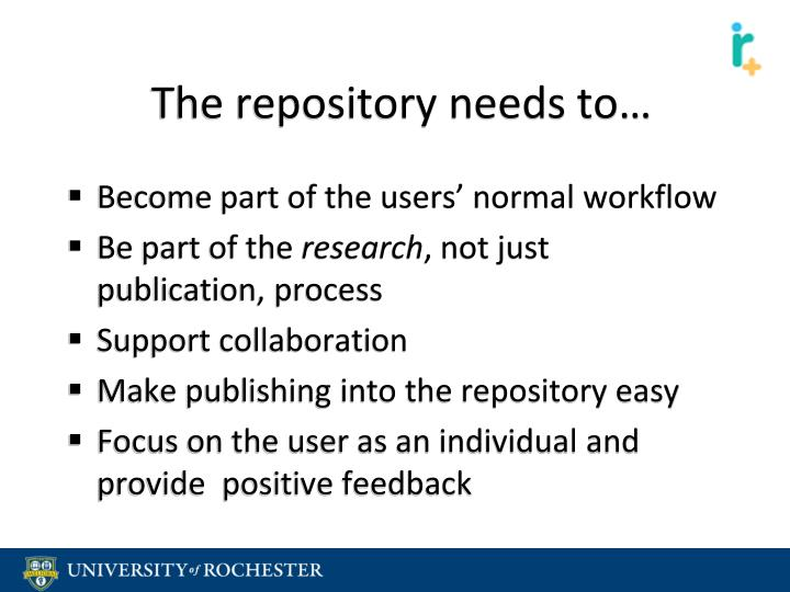 The repository needs to…