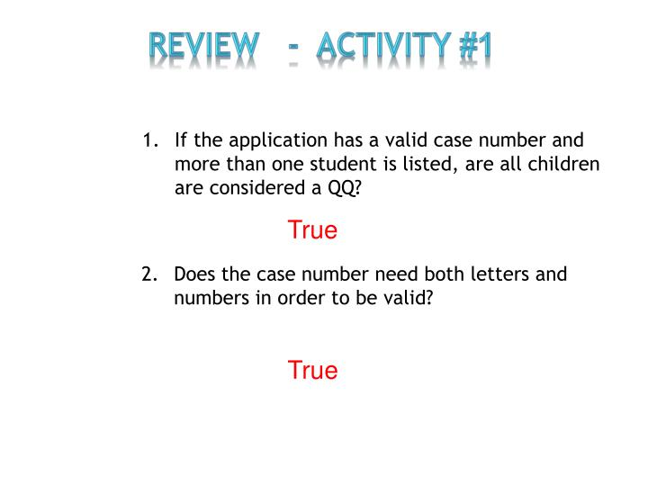 Review   -  Activity