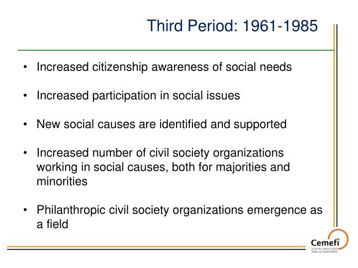 Third Period: 1961-1985