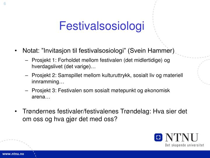 Festivalsosiologi