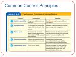 common control principles
