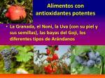 alimentos con antioxidantes potentes