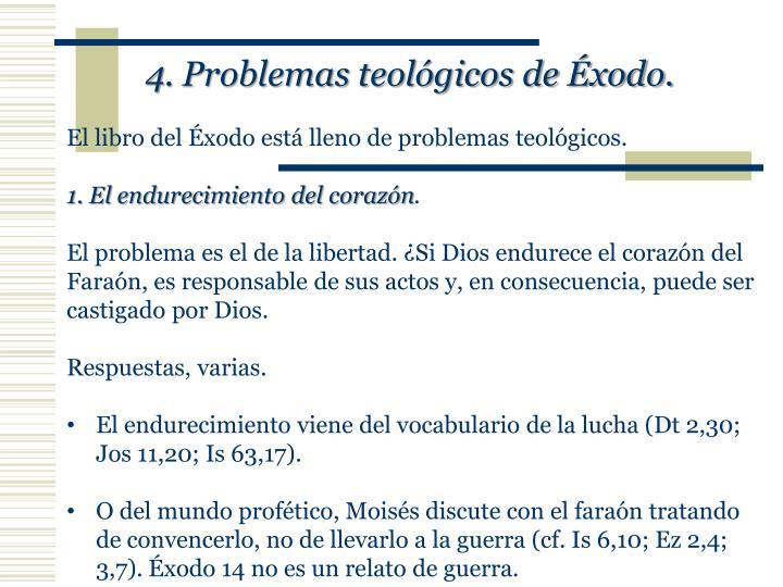4. Problemas teológicos de Éxodo.