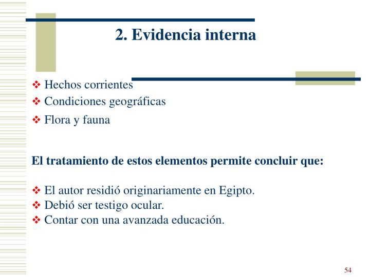 2. Evidencia interna