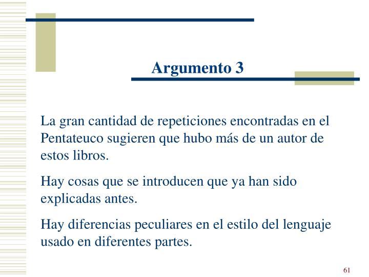Argumento 3