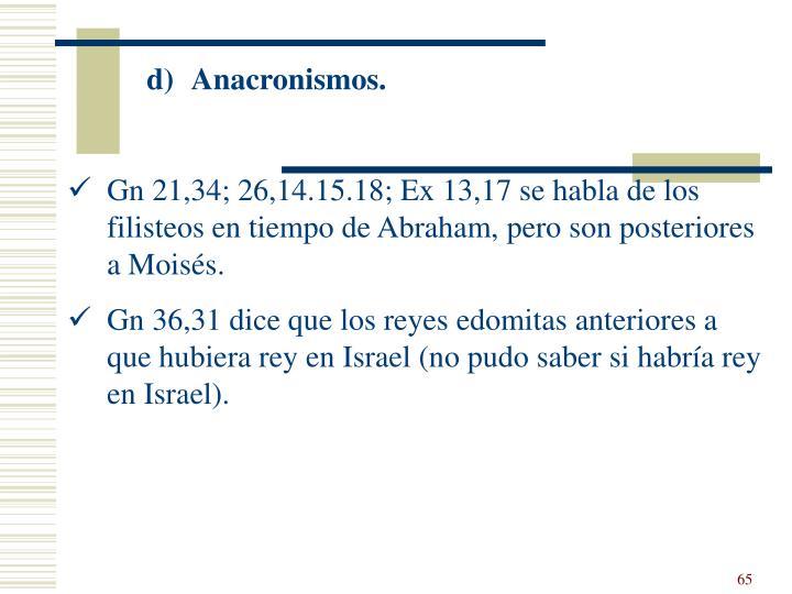 Anacronismos.