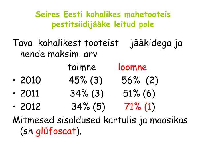 Seires Eesti kohalikes mahetooteis pestitsiidij