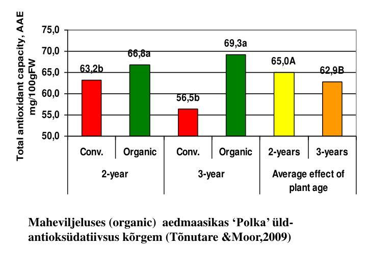 Maheviljeluses (organic)  aedmaasikas
