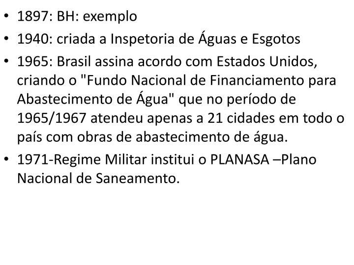 1897: BH: exemplo