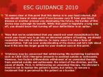 esc guidance 2010