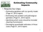 estimating community impacts