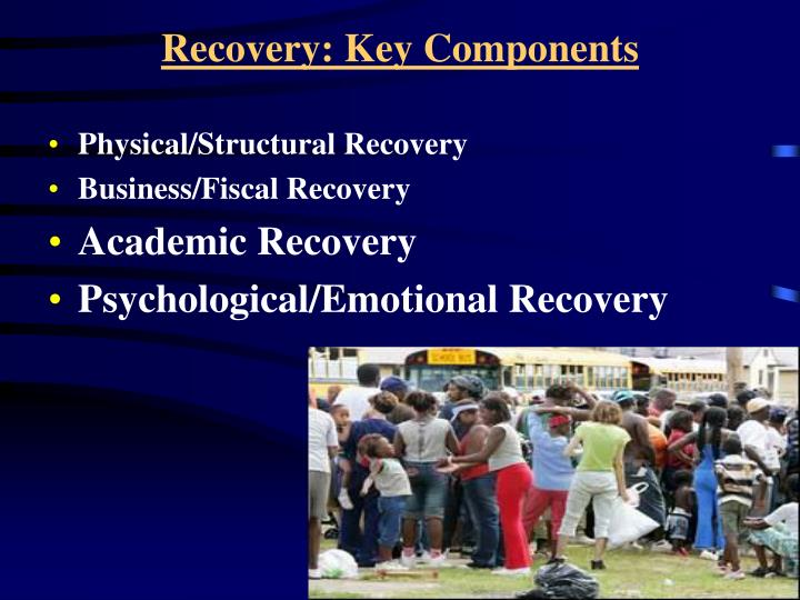 Recovery: Key Components