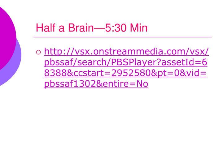 Half a Brain—5:30 Min