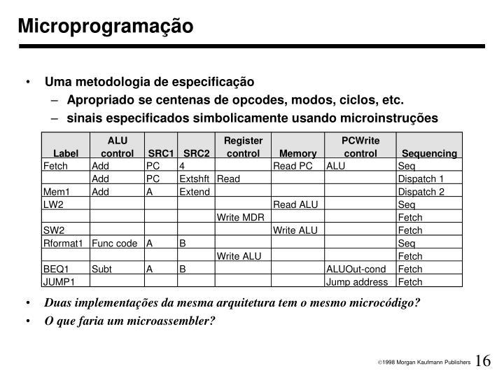 Microprogramação
