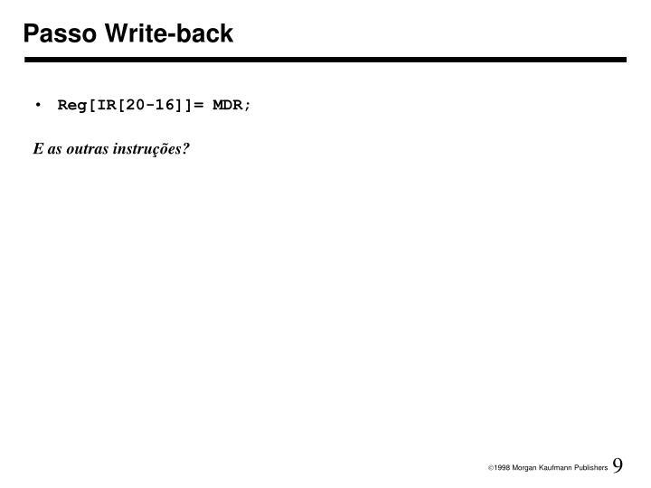 Passo Write-back