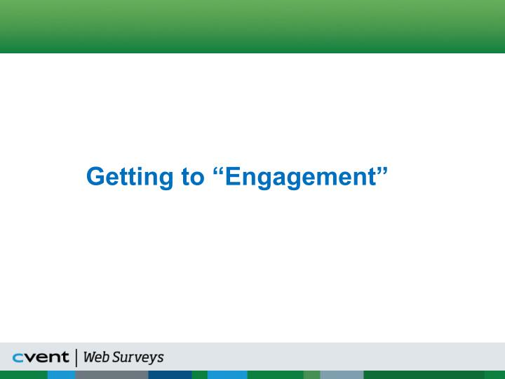 """Getting to """"Engagement"""""""