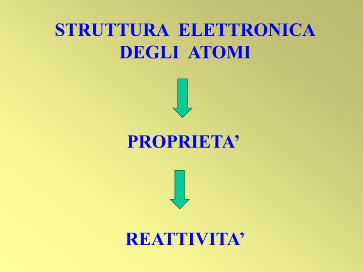 STRUTTURA  ELETTRONICA