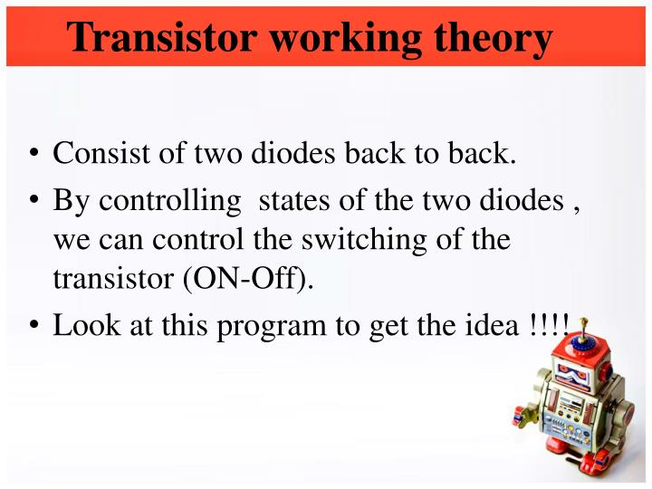 Transistor working theory