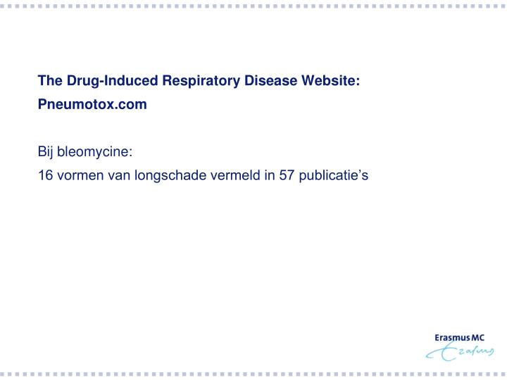 The Drug-Induced Respiratory Disease Website: