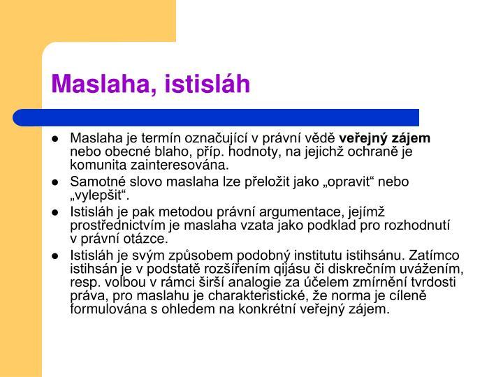Maslaha, istisláh