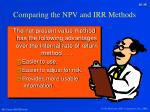 comparing the npv and irr methods2
