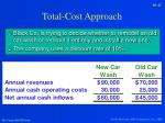 total cost approach