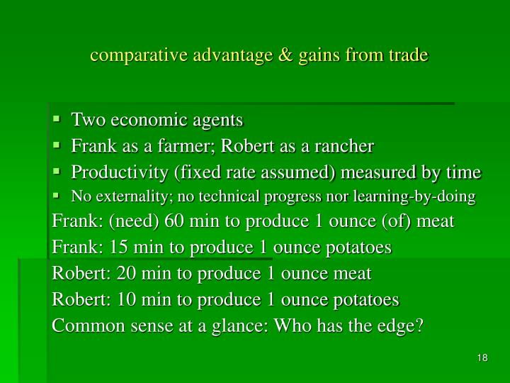 comparative advantage & gains from trade