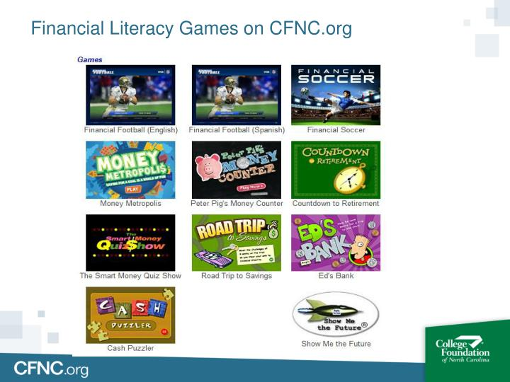 Financial Literacy Games on CFNC.org