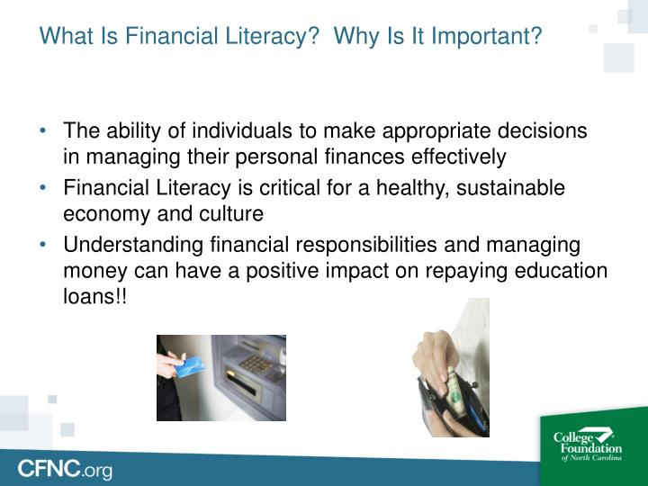 What is financial literacy why is it important
