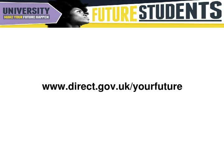 www.direct.gov.uk/yourfuture