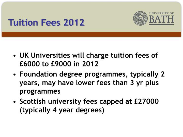 Tuition Fees 2012