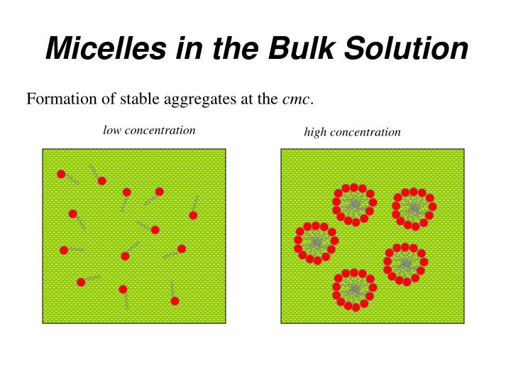 Micelles in the Bulk Solution
