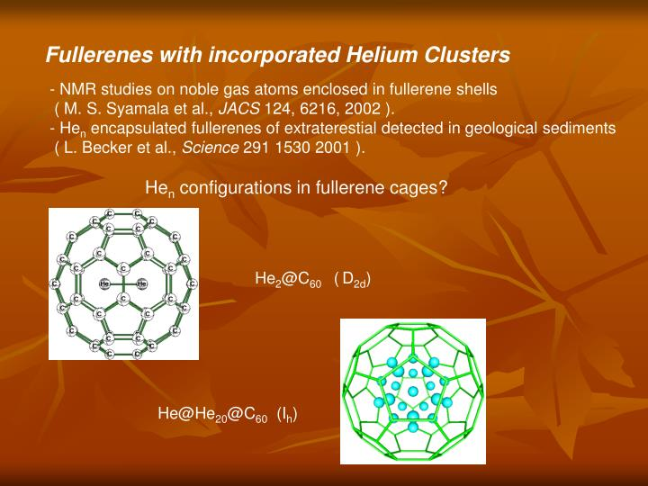 Fullerenes with incorporated Helium Clusters