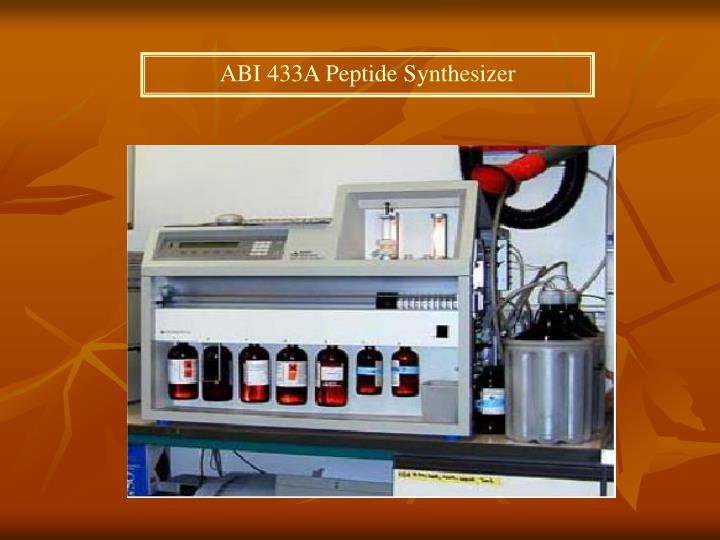 ABI 433A Peptide Synthesizer