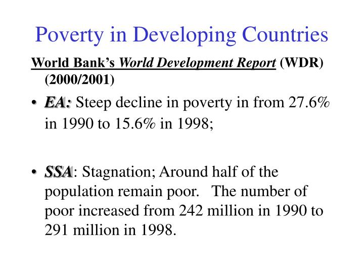 Poverty in Developing Countries