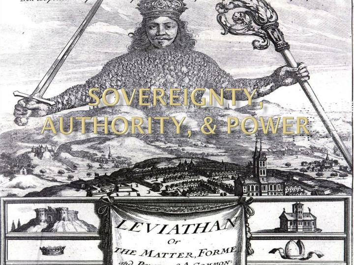sovereignty authority power n.