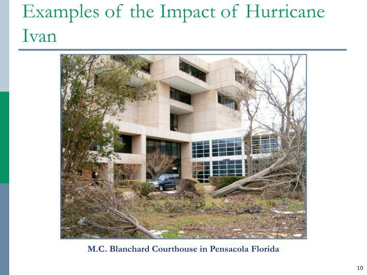 Examples of the Impact of Hurricane Ivan