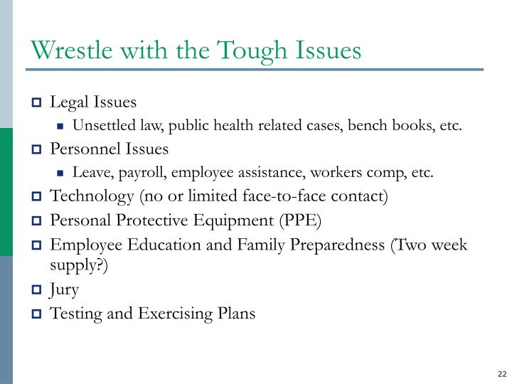 Wrestle with the Tough Issues